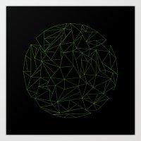 geometric circle Art Print