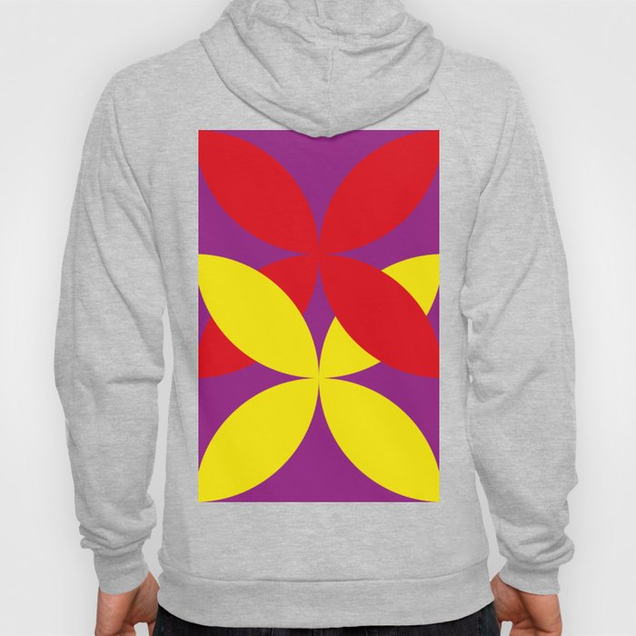 Two four-leaf clovers hugging in a beautiful deep purple space. How lucky! Hoody