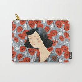 Girl on poppies Carry-All Pouch