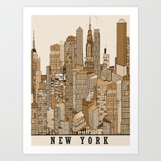 new york vintage (option) Art Print