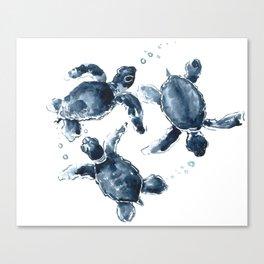 Swimming Sea Turtles Canvas Print