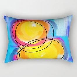 Paint abstract circle Rectangular Pillow