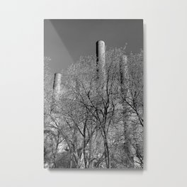 Industrial Chimneys, Minneapolis Metal Print