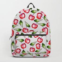 Cherries in white pattern Backpack
