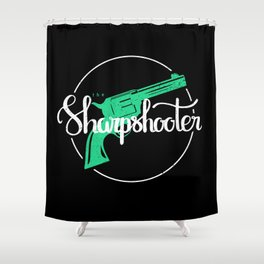 The Sharpshooter Shower Curtain