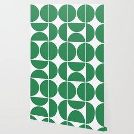 Mid Century Modern Green Square Wallpaper
