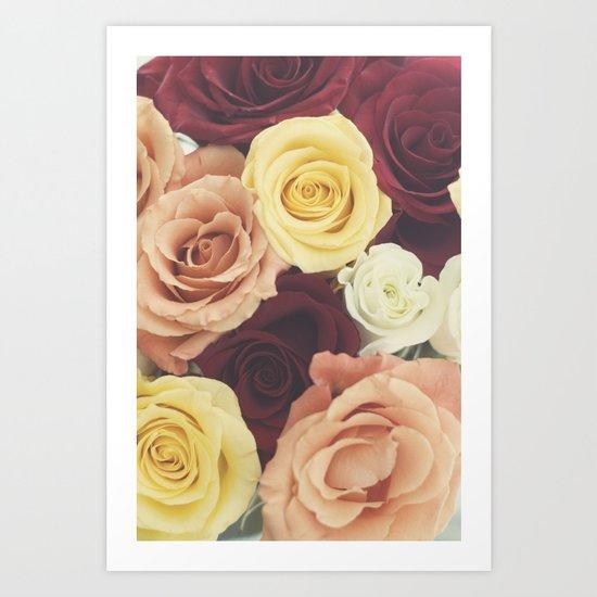Vintage Roses II Art Print