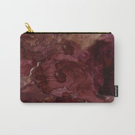 Rose, Burgundy and Merlot Watercolor Flowers Carry-All Pouch