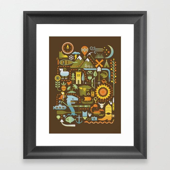 Treasure Chest Framed Art Print
