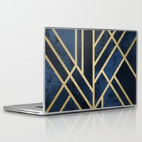deco Laptop & iPad Skins featuring Art Deco Midnight by Elisabeth Fredriksson