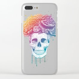 Color skull Clear iPhone Case