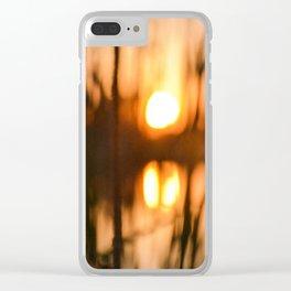 Cattails Clear iPhone Case