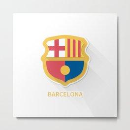 Barcelona FC Flat Logo Metal Print