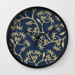 Royal Floral Wall Clock