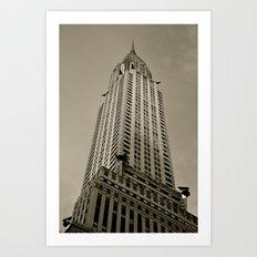 Art Deco (B/W) Art Print