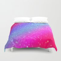 glitter Duvet Covers featuring glitter by haroulita