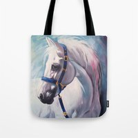 horse Tote Bags featuring Horse by Slaveika Aladjova