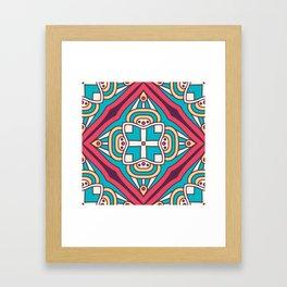 Mosaic Boho Pattern Framed Art Print