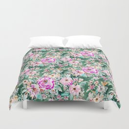 WANDERLUSH Colorful Floral Duvet Cover