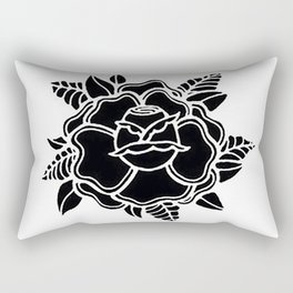 black rose/grow yourself Rectangular Pillow