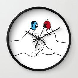 Thumb wrestling Wall Clock