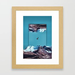 Falling into reality Framed Art Print