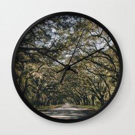 Wormsloe Live Oak Avenue - Savannah II Wall Clock