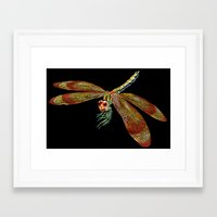 dragonfly Framed Art Prints featuring Dragonfly by Tim Jeffs Art