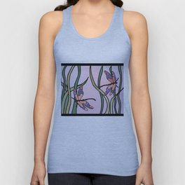 dragonflies in  a pastel color background Unisex Tank Top