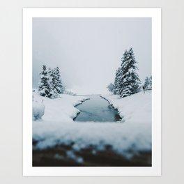 Lake Louise Winter Art Print