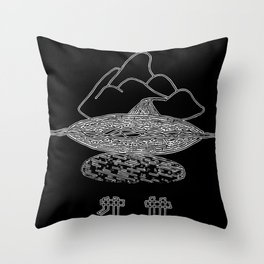Floating on the sound Throw Pillow