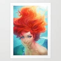 under the sea Art Prints featuring Under The Sea by Artgerm™