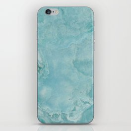 Turquoise Sea Marble iPhone Skin