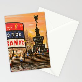 London Piccadilly Sunset Stationery Cards