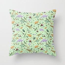 I Love Dinosaurs Throw Pillow