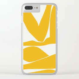 Yellow anatomy Clear iPhone Case