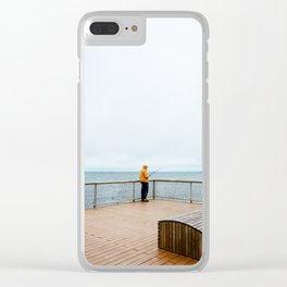 Coney Island Pier: Gone Fishing Clear iPhone Case