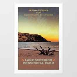 Lake Superior Provincial Park Art Print