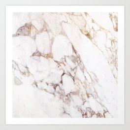 Onyx White Marble Art Print