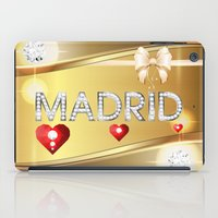 madrid iPad Cases featuring Madrid 01 by Daftblue