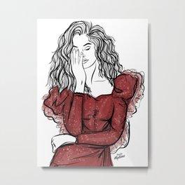 The red dress Metal Print