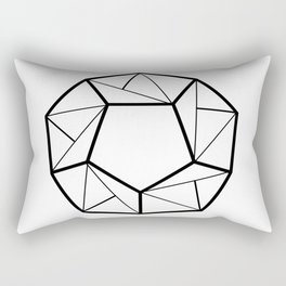 Black Line; Decorative Art Prints for Living Rooms Rectangular Pillow