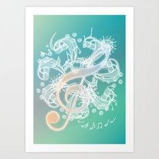 Music Notes - Crystal Art Print