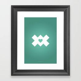 XoX Aqua Framed Art Print