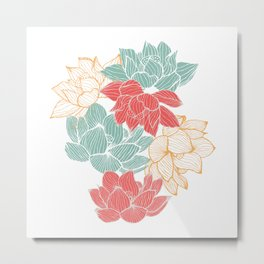 Lotus Carousal Metal Print
