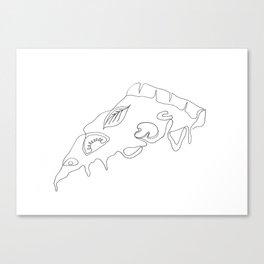 Pizza slice Canvas Print