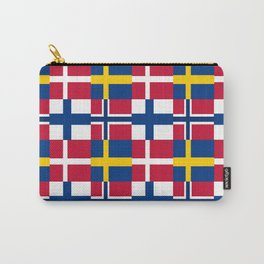 Flags of scandinavia2: finland, denmark,swede,norway Carry-All Pouch