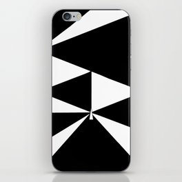 Triangles in Black and White iPhone Skin