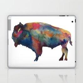Watercolor Buffalo Bison Laptop & iPad Skin