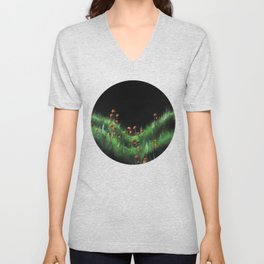 Meadow with Mushrooms and Moss: The Nude Unisex V-Neck